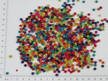 Mostacilla de madera 4,0mm en colores surtidos x 500g