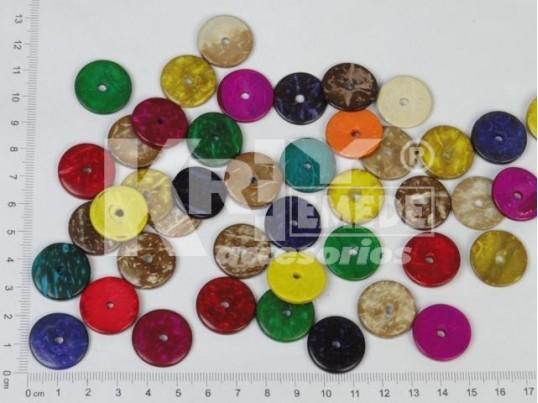 Círculo de coco con agujero central 2 cm