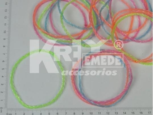 Pulsera angosta de PVC x 12
