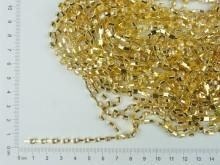 Cadena dorada con strass (carretel x 9,10 mts)