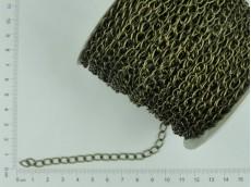 Cadena simple bronce