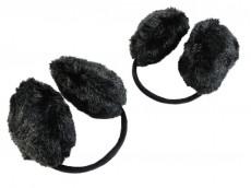 Orejeras negras de peluche corderito