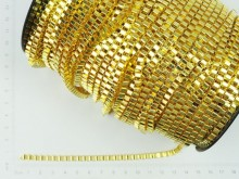 Cadena eslabón cuadrado dorada (6mm x 50 mts)