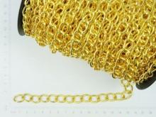 Cadena simple eslabón redondo dorado (2mm x 25 mts)