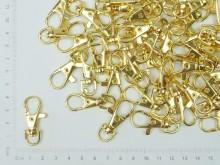 Mosquetón dorado para llavero