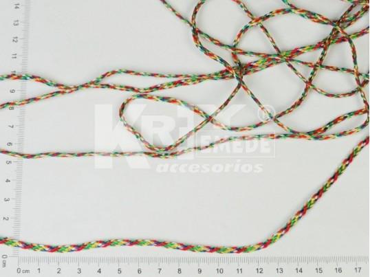 Cordón trenzado multicolor x 200 mts