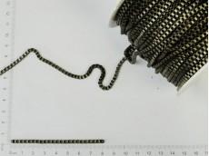 Cadena bronce de eslabones cuadrados chicos (carretel x 50mts)