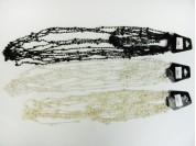 Colgante tejido con mostacillas