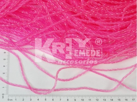 Soga PVC torzada flúo fina (2,8mm) x 10mts