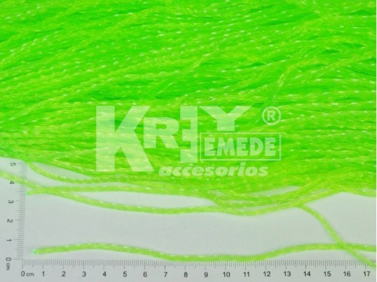Soga PVC torzada flúo fina (2,8 mm) x 10 mts