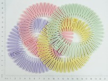 Vincha zigzag pastel