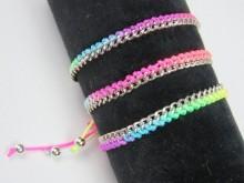 Pulsera de cadena y cordón tejido