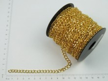 Cadena dorada plana 1 mm x 25 mts