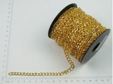 Cadena dorada plana 1 mm