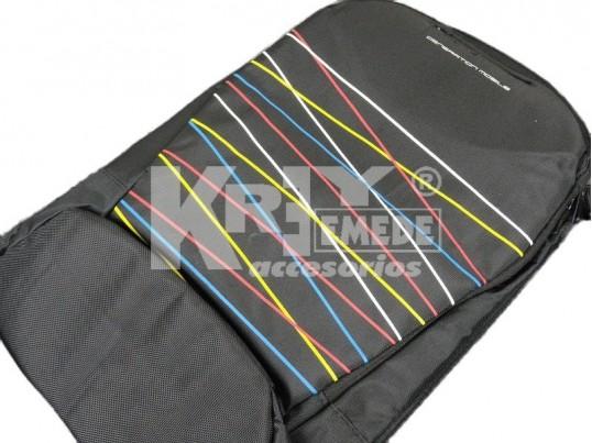 Mochila porta notebook con rayas de colores