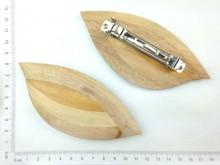 Hebilla francesa con aplique madera
