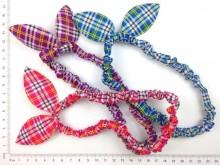 Vincha elástica forrada con orejitas escocés