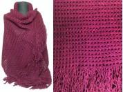 Pashmina de lana con flecos