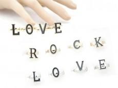 Anillo rock love caja x12u