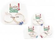 Trio anillo corazon flor perla