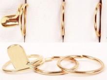 Set x 3 anillos falange uña y 2 lisos