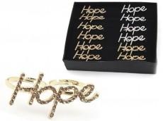 Anilllo doble hope strass caja x12