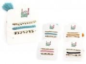 Set pulsera x 3 trenza borla