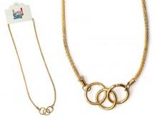 Colgante 3 anillos y cadena serpiente