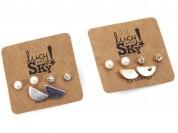 Trio perla strass medio circulo