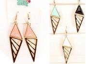 Aro piedra triangulo con filigrana [51550]