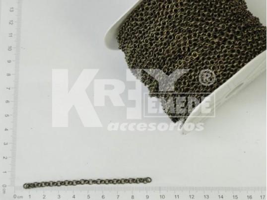 Cadena bronce de eslabones redondos x 50 mts