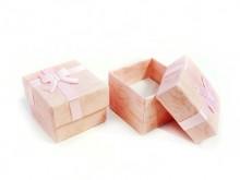 Caja forrada para anillo 4 x 4 x 3 cm