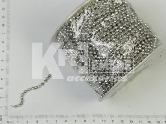 Cadena de bolitas níquel (3,2mm x 50 mts)
