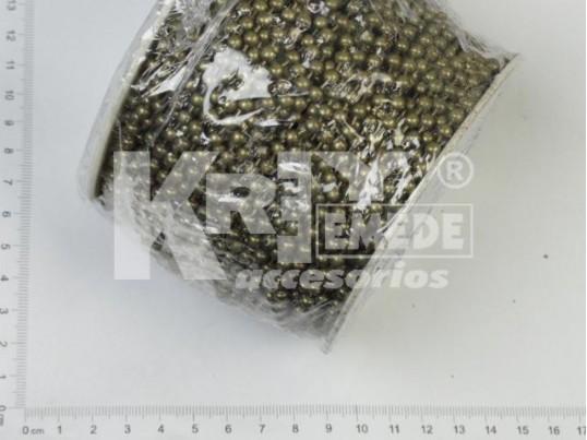 Cadena de bolitas bronce 4 mm x 50 mts