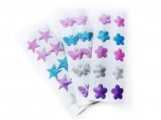 Tic tac con purpurina flor