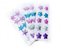 Tic tac con purpurina estrella
