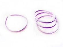 Vincha plástica forrada en raso lila 1 cm