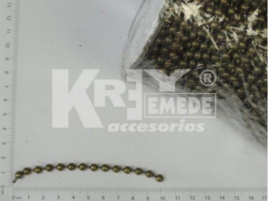 Cadena de bolitas bronce 5 mm x 50 mts