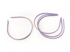 Vincha metálica forrada en seda fría lila 0.5 cm