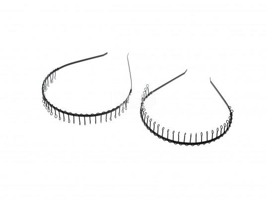 Vincha de alambre con dientes negra