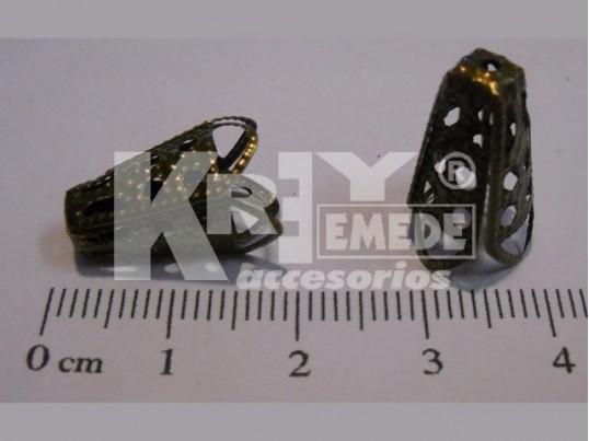 Calota cónica mediana 4 pétalos color bronce