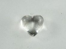 Corazón acrílico liso cristal x 1 kg
