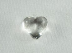 Corazón acrílico liso x 196 gr