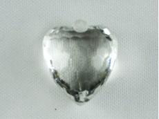 Corazón acrílico facetado x 455 gr