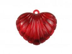 Corazón acrílico rayado x 555 gr