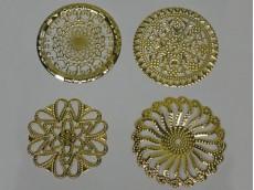 Chapón dorado circular grande