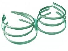 Vincha plástica forrada en raso agua marina 1 cm