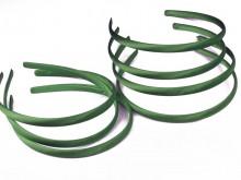Vincha plástica forrada en raso verde inglés 1 cm