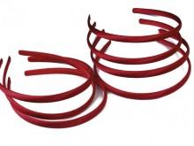 Vincha plástica forrada en raso bordo 1 cm