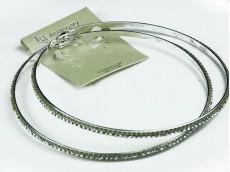 Aro de acero argolla con strass 10 cm